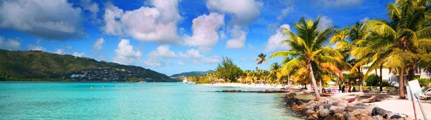 Martinique : Région paradisiaque de la mer des Caraïbes